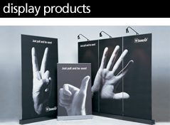 Display Products: Rolla banners and Exhibition Stands